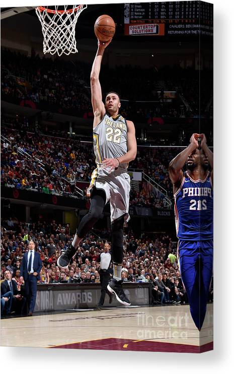Nba Pro Basketball Canvas Print featuring the photograph Larry Nance by David Liam Kyle