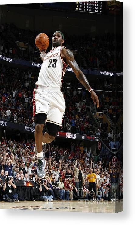 Nba Pro Basketball Canvas Print featuring the photograph Lebron James by Gregory Shamus