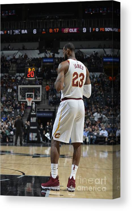 Nba Pro Basketball Canvas Print featuring the photograph Lebron James by Mark Sobhani