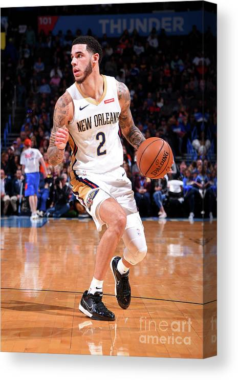 Nba Pro Basketball Canvas Print featuring the photograph Lonzo Ball by Bill Baptist