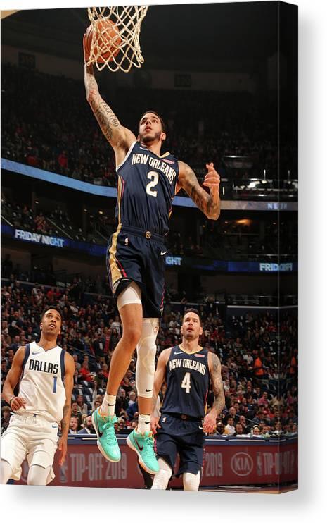 Smoothie King Center Canvas Print featuring the photograph Lonzo Ball by Layne Murdoch Jr.
