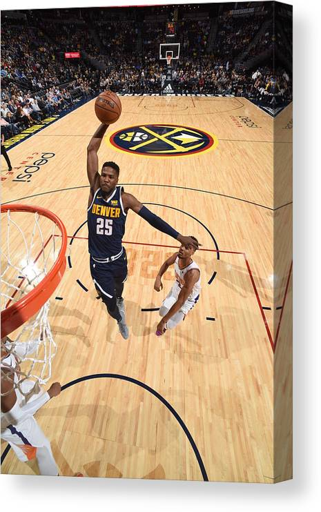Nba Pro Basketball Canvas Print featuring the photograph Malik Beasley by Garrett Ellwood