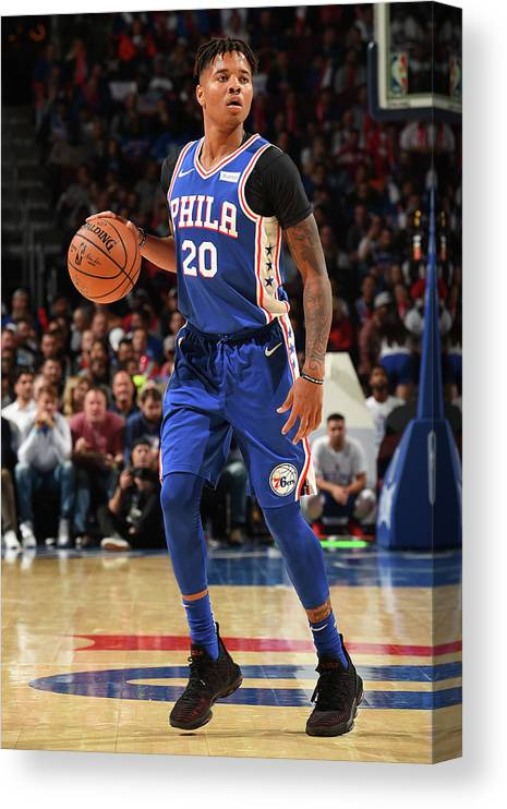 Nba Pro Basketball Canvas Print featuring the photograph Markelle Fultz by David Dow