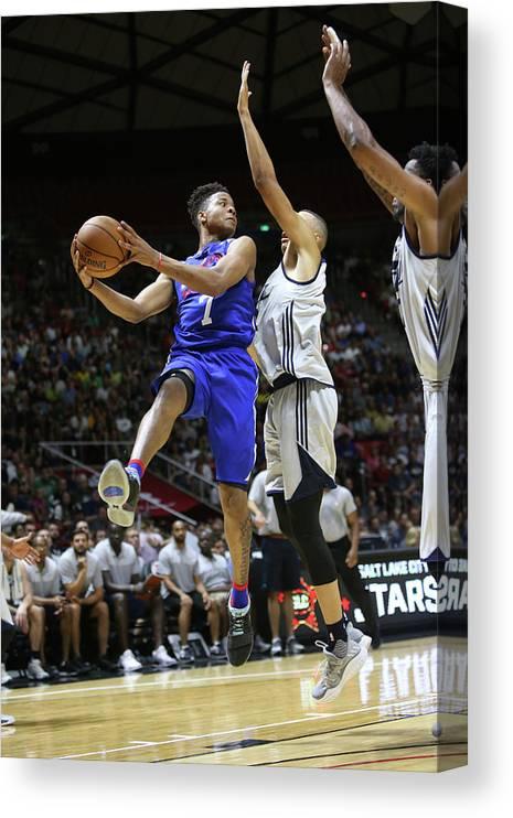 Nba Pro Basketball Canvas Print featuring the photograph Markelle Fultz by Melissa Majchrzak