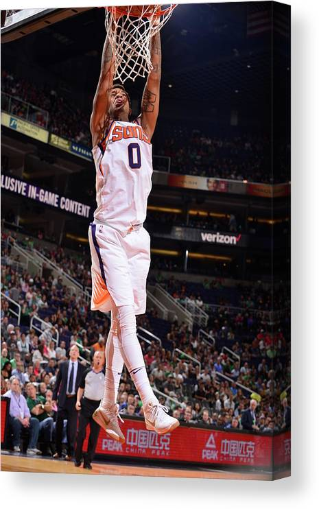Nba Pro Basketball Canvas Print featuring the photograph Marquese Chriss by Barry Gossage