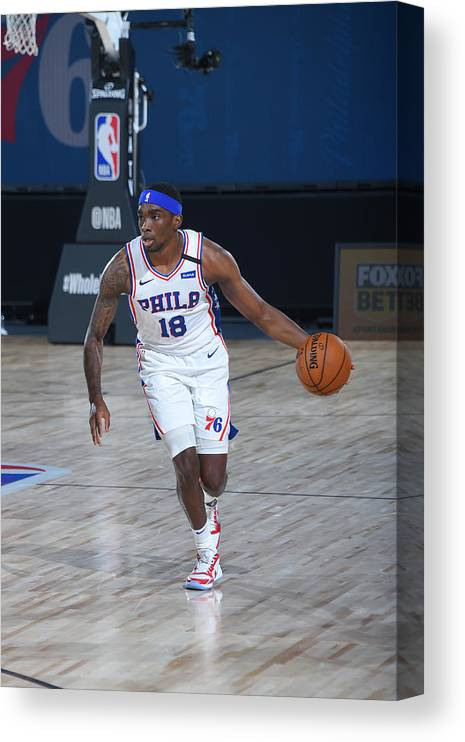 Nba Pro Basketball Canvas Print featuring the photograph Memphis Grizzlies v Philadelphia 76ers by Bill Baptist