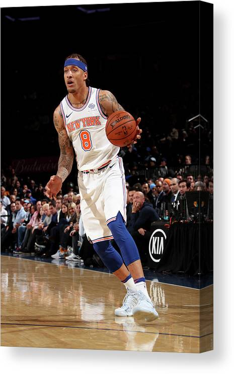 Michael Beasley Canvas Print featuring the photograph Michael Beasley by Nathaniel S. Butler