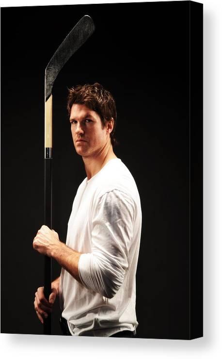 Atlanta Canvas Print featuring the photograph NHL All-Star Stylized Portrait Shoot by Jennifer Pottheiser