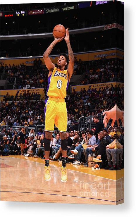 Nba Pro Basketball Canvas Print featuring the photograph Nick Young by Andrew D. Bernstein