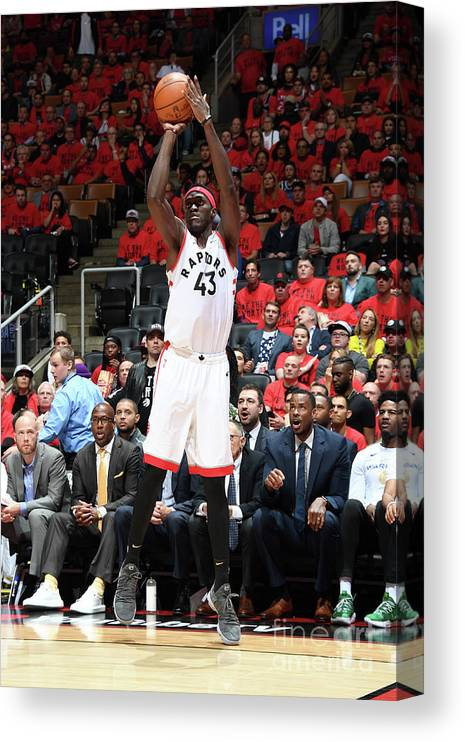Playoffs Canvas Print featuring the photograph Pascal Siakam by Andrew D. Bernstein