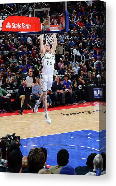 Playoffs Canvas Print featuring the photograph Pat Connaughton by Chris Schwegler