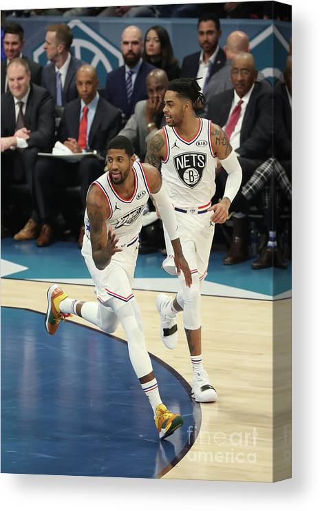 Nba Pro Basketball Canvas Print featuring the photograph Paul George by Joe Murphy