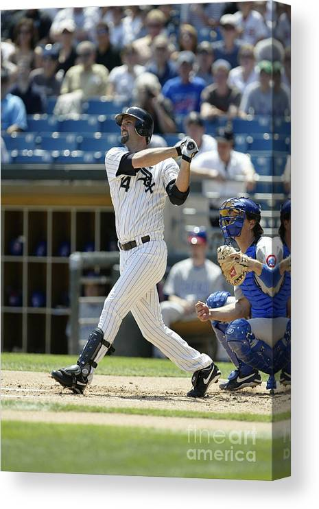 American League Baseball Canvas Print featuring the photograph Paul Konerko by Ron Vesely