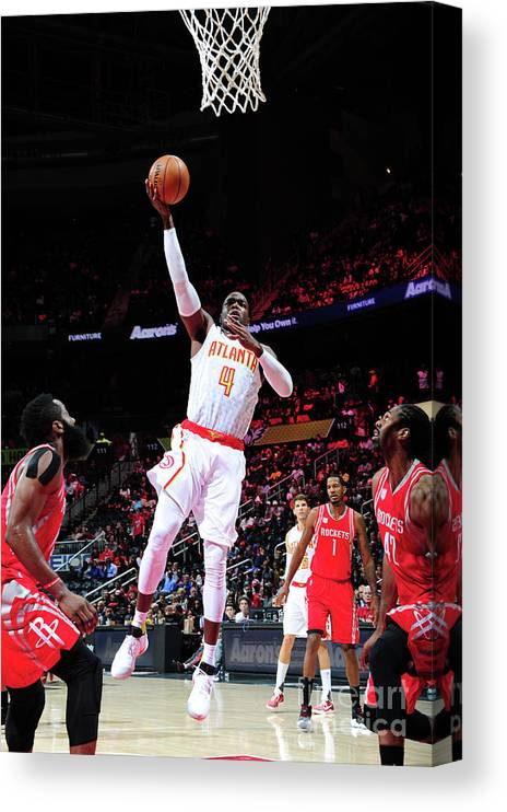 Atlanta Canvas Print featuring the photograph Paul Millsap by Scott Cunningham