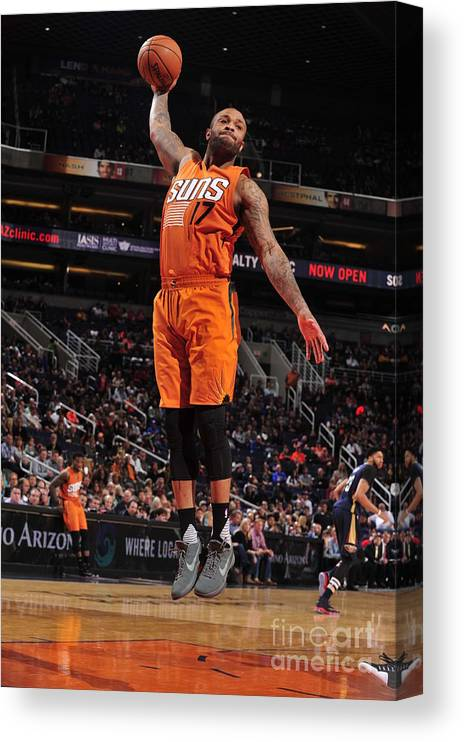 Nba Pro Basketball Canvas Print featuring the photograph P.j. Tucker by Barry Gossage