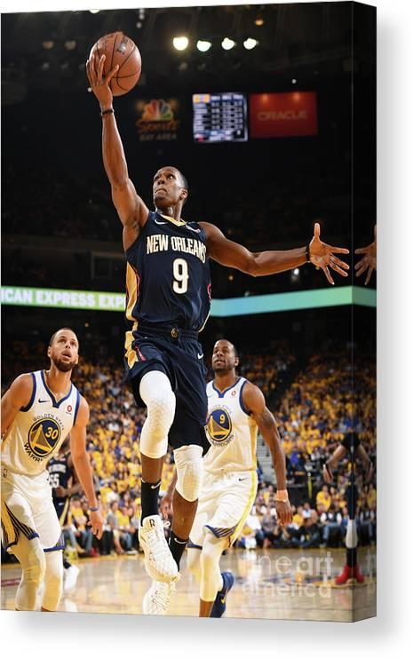 Playoffs Canvas Print featuring the photograph Rajon Rondo by Garrett Ellwood