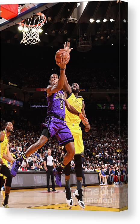Nba Pro Basketball Canvas Print featuring the photograph Rajon Rondo by Noah Graham