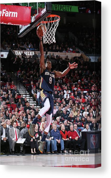 Playoffs Canvas Print featuring the photograph Rajon Rondo by Sam Forencich