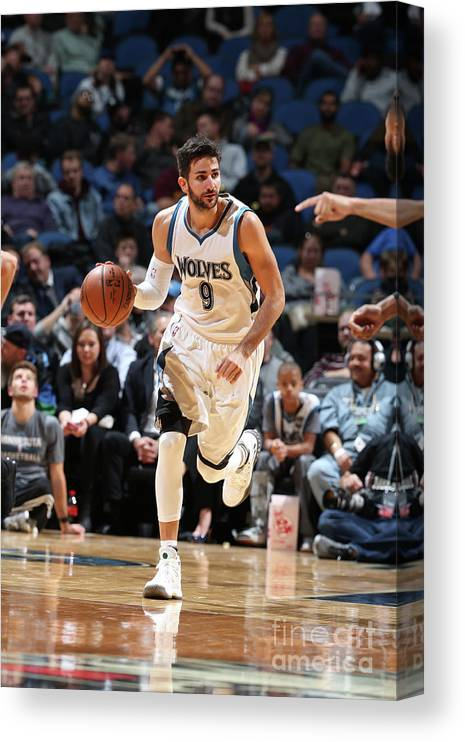 Nba Pro Basketball Canvas Print featuring the photograph Ricky Rubio by David Sherman