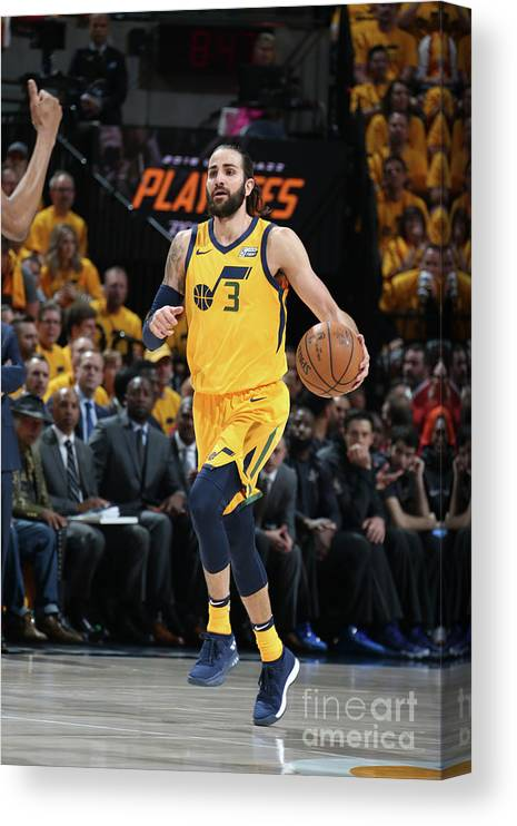 Playoffs Canvas Print featuring the photograph Ricky Rubio by Melissa Majchrzak