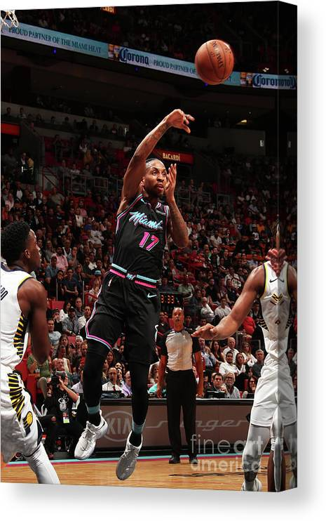 Nba Pro Basketball Canvas Print featuring the photograph Rodney Mcgruder by Issac Baldizon