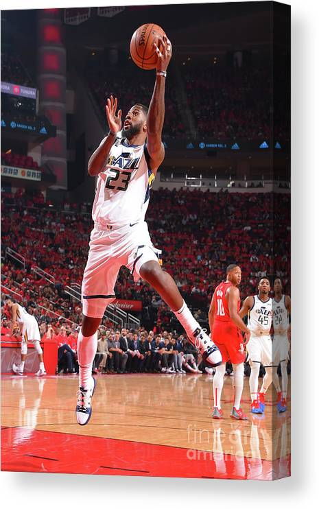 Playoffs Canvas Print featuring the photograph Royce O'neale by Bill Baptist