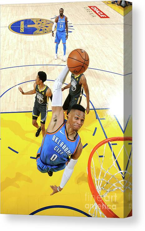 Nba Pro Basketball Canvas Print featuring the photograph Russell Westbrook by Noah Graham