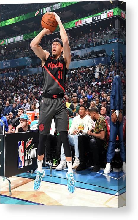Nba Pro Basketball Canvas Print featuring the photograph Seth Curry by Andrew D. Bernstein