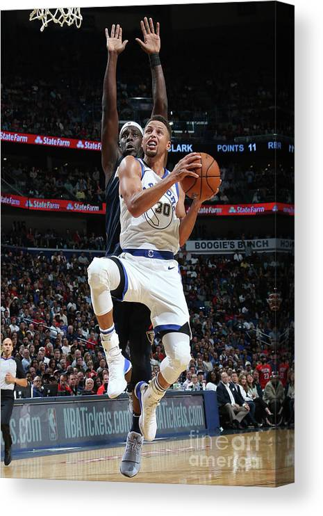 Smoothie King Center Canvas Print featuring the photograph Stephen Curry by Layne Murdoch