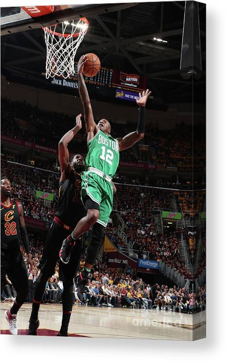 Playoffs Canvas Print featuring the photograph Terry Rozier by Nathaniel S. Butler