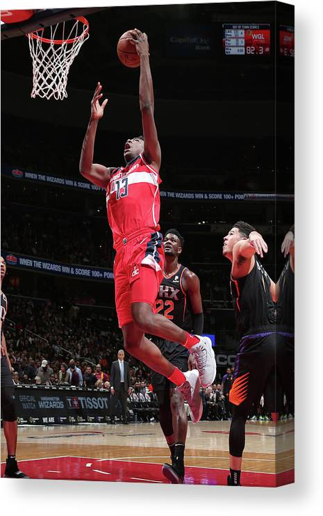 Nba Pro Basketball Canvas Print featuring the photograph Thomas Bryant by Ned Dishman