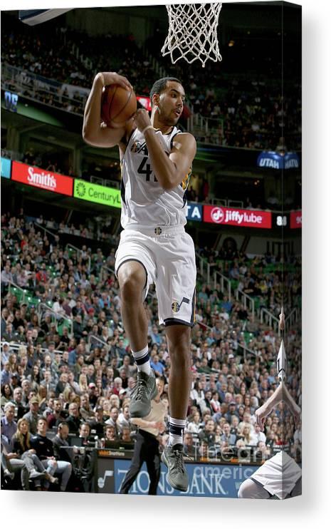 Nba Pro Basketball Canvas Print featuring the photograph Trey Lyles by Melissa Majchrzak