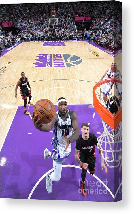 Nba Pro Basketball Canvas Print featuring the photograph Ty Lawson by Rocky Widner