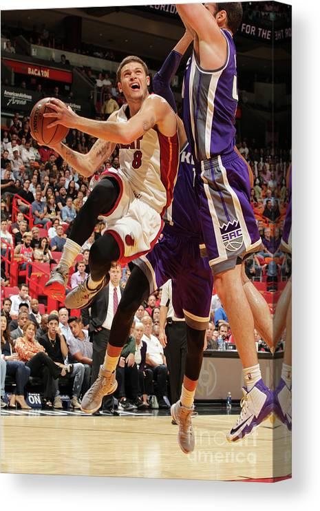 Nba Pro Basketball Canvas Print featuring the photograph Tyler Johnson by Oscar Baldizon