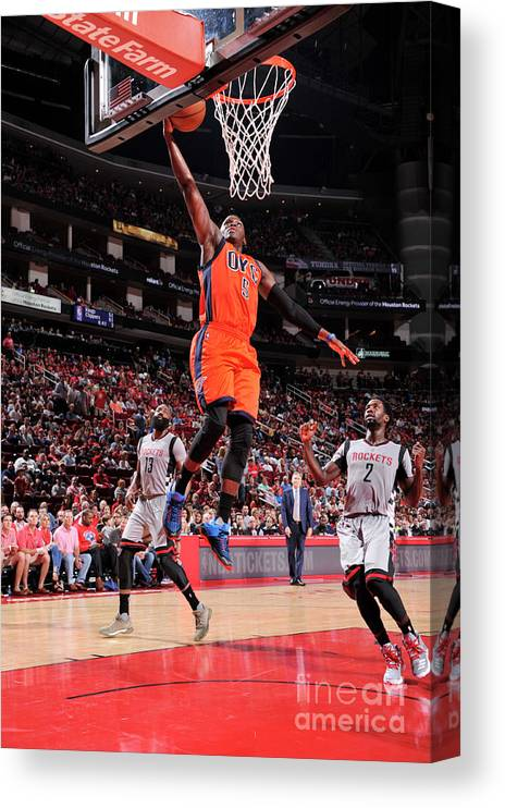 Nba Pro Basketball Canvas Print featuring the photograph Victor Oladipo by Bill Baptist