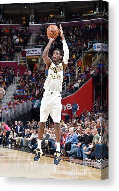 Nba Pro Basketball Canvas Print featuring the photograph Victor Oladipo by David Liam Kyle