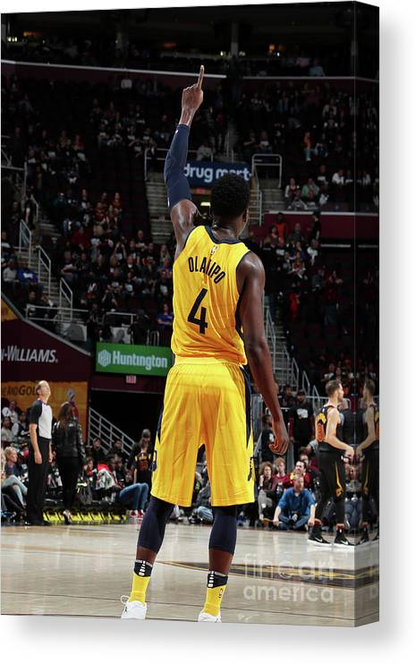Playoffs Canvas Print featuring the photograph Victor Oladipo by Nathaniel S. Butler