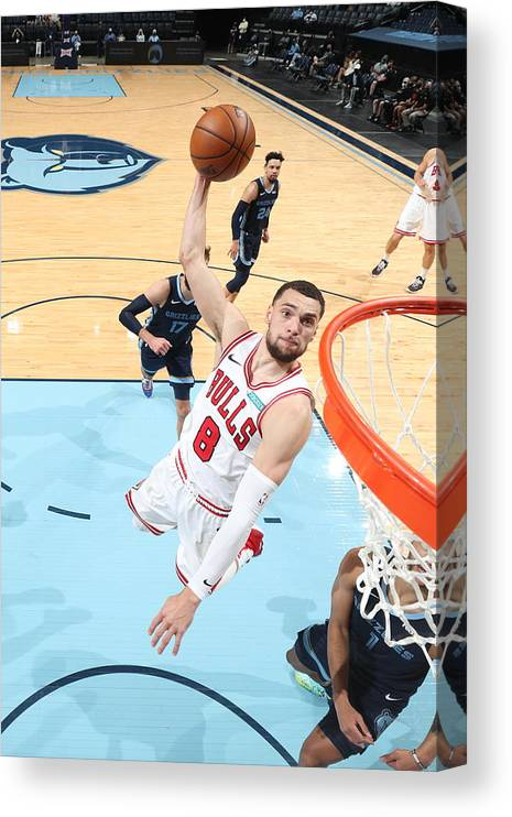 Nba Pro Basketball Canvas Print featuring the photograph Zach Lavine by Joe Murphy