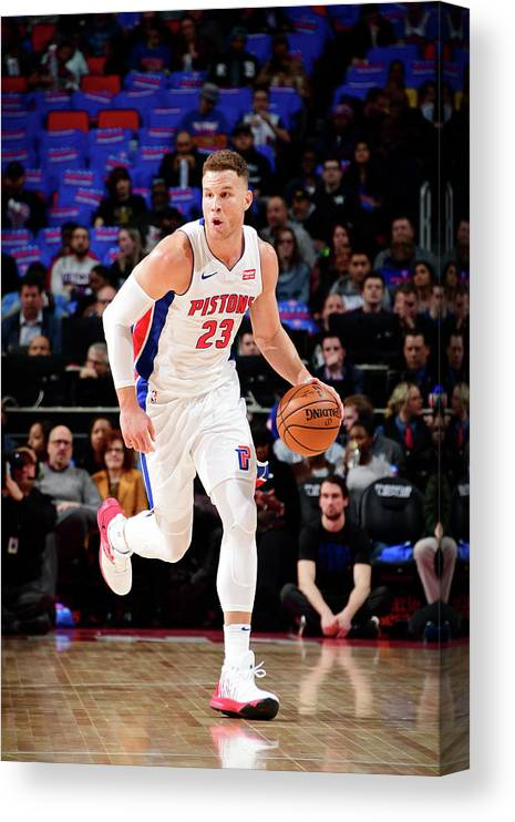 Nba Pro Basketball Canvas Print featuring the photograph Blake Griffin by Chris Schwegler
