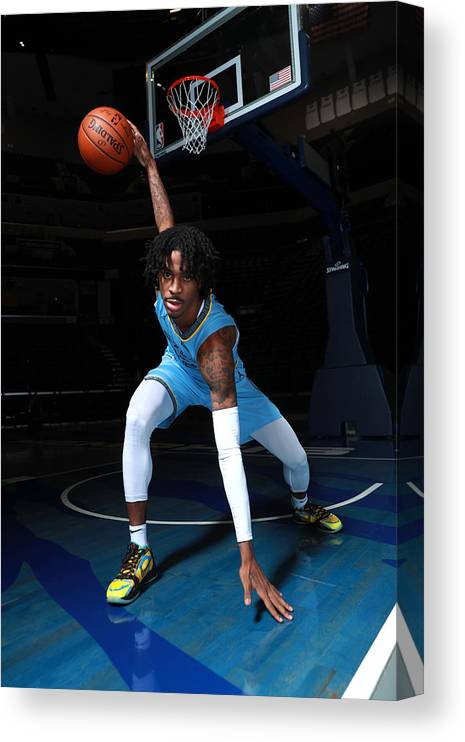 Media Day Canvas Print featuring the photograph 2020-2021 Memphis Grizzlies Content Day by Joe Murphy