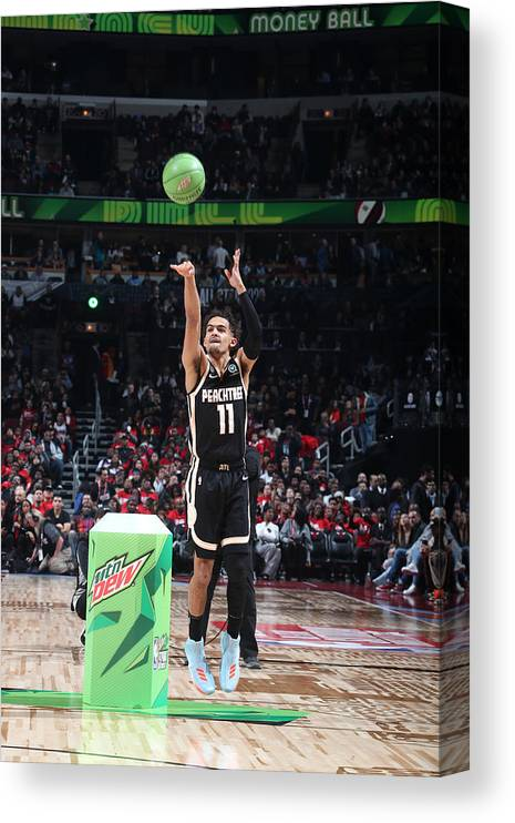 Nba Pro Basketball Canvas Print featuring the photograph 2020 NBA All-Star - MTN DEW 3-Point Contest by Nathaniel S. Butler