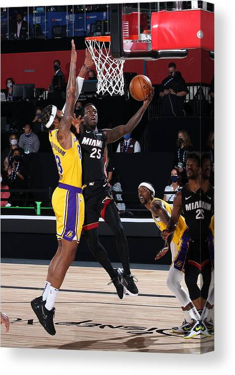 Playoffs Canvas Print featuring the photograph 2020 NBA Finals - Los Angeles Lakers v Miami Heat by Nathaniel S. Butler