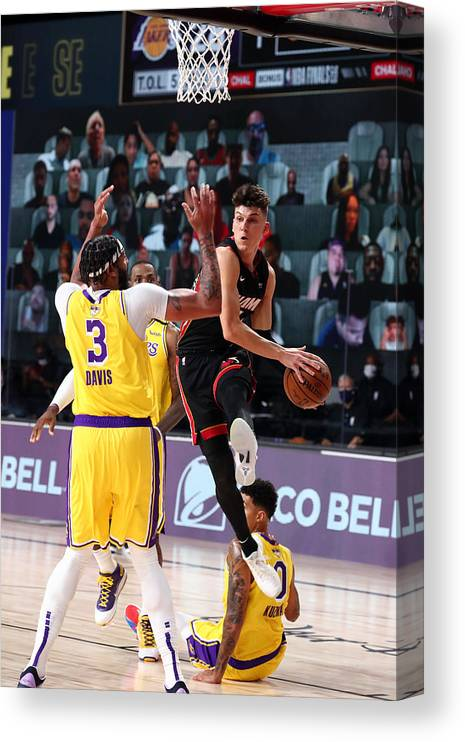Playoffs Canvas Print featuring the photograph 2020 NBA Finals - Miami Heat v Los Angeles Lakers by Nathaniel S. Butler