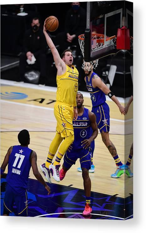 Atlanta Canvas Print featuring the photograph 2021 70th NBA All-Star Game by Adam Hagy