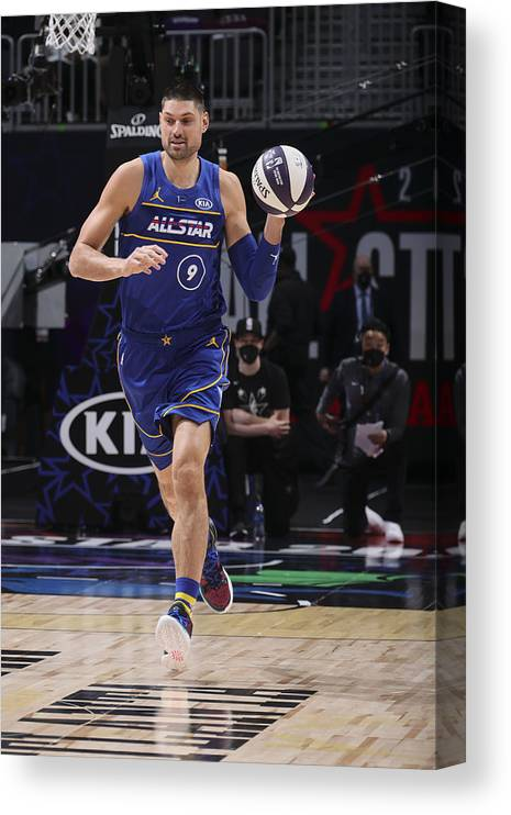 Atlanta Canvas Print featuring the photograph 2021 NBA All-Star - Taco Bell Skills Challenge by Nathaniel S. Butler