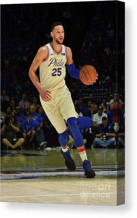 Playoffs Canvas Print featuring the photograph Ben Simmons by Jesse D. Garrabrant