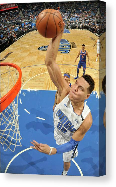 Nba Pro Basketball Canvas Print featuring the photograph Aaron Gordon by Fernando Medina