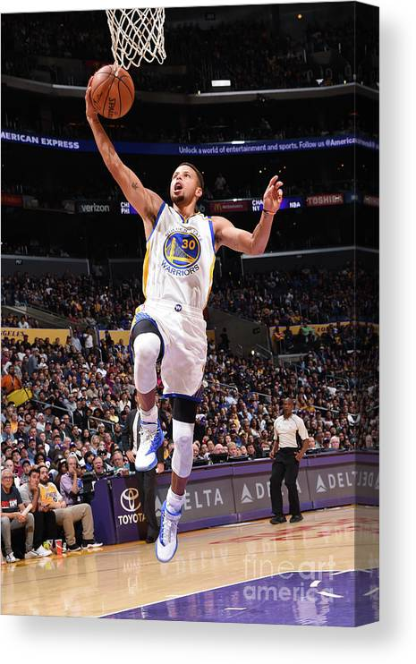 Nba Pro Basketball Canvas Print featuring the photograph Stephen Curry by Andrew D. Bernstein