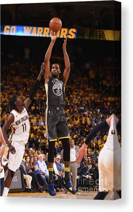 Playoffs Canvas Print featuring the photograph Kevin Durant by Noah Graham