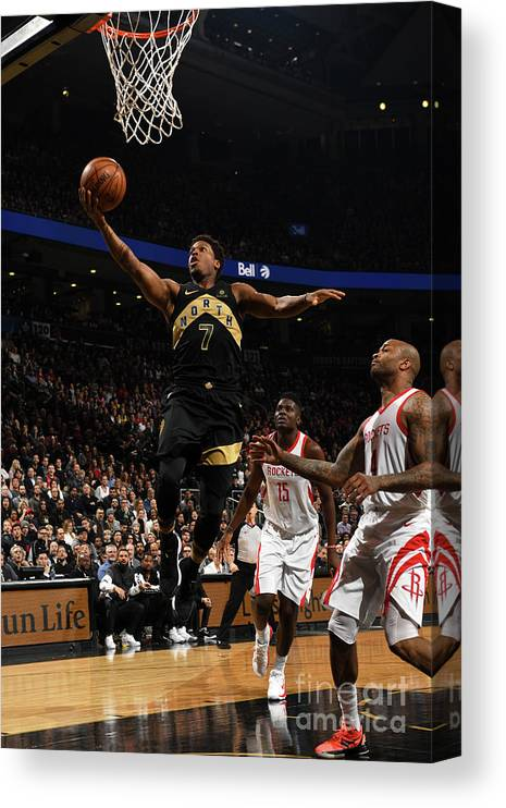 Nba Pro Basketball Canvas Print featuring the photograph Kyle Lowry by Ron Turenne